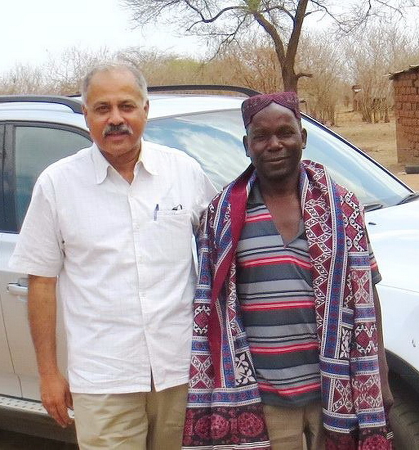 With Zambian Local Dy. Chief